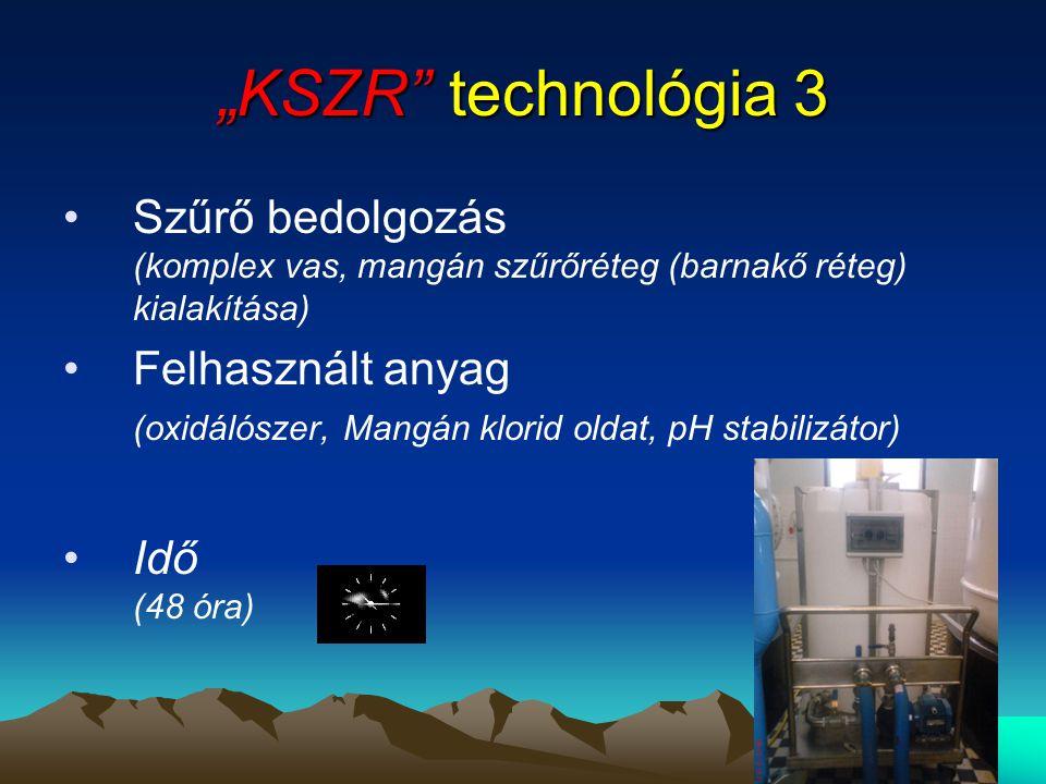 """""""KSZR technológia 3 Szűrő bedolgozás (komplex vas, mangán szűrőréteg (barnakő réteg) kialakítása)"""