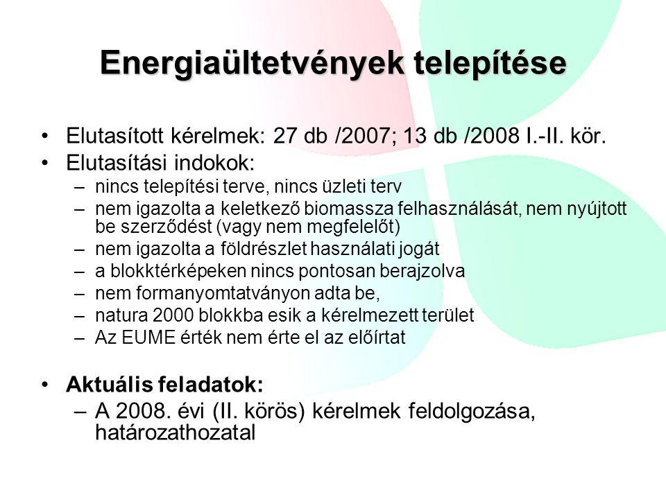 Energiaültetvények telepítése