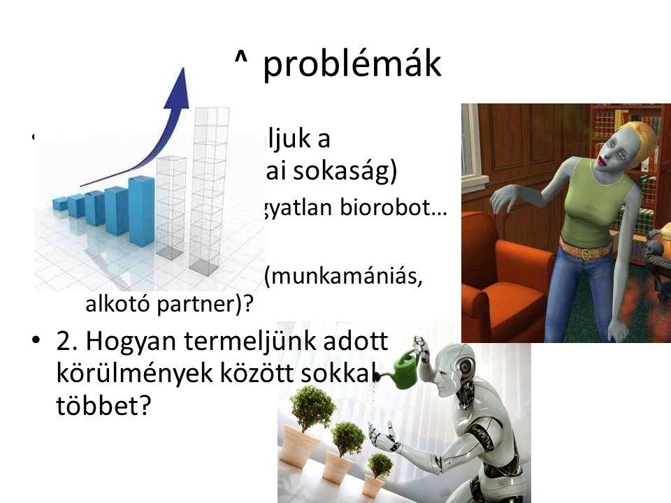 A problémák 1. Hogyan motiváljuk a dolgozókat (fizikai sokaság)