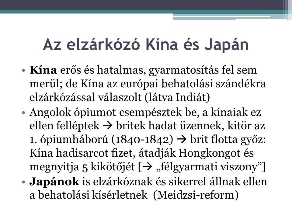 Az elzárkózó Kína és Japán