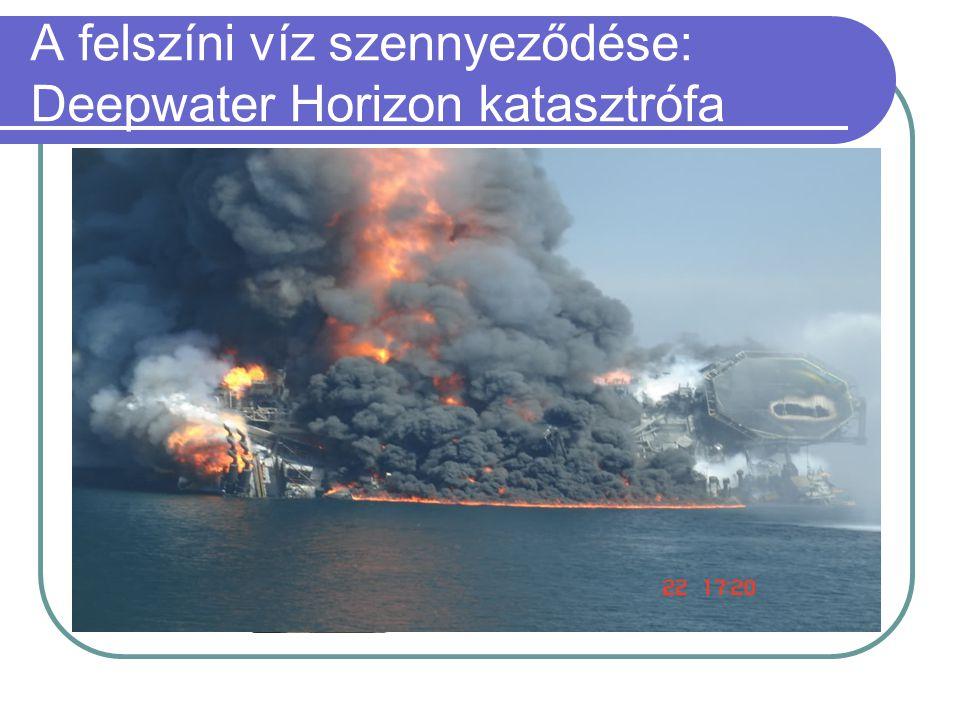 A felszíni víz szennyeződése: Deepwater Horizon katasztrófa