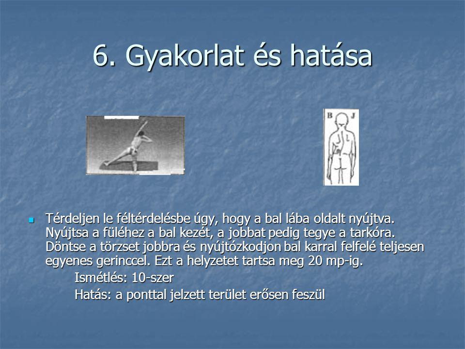 6. Gyakorlat és hatása