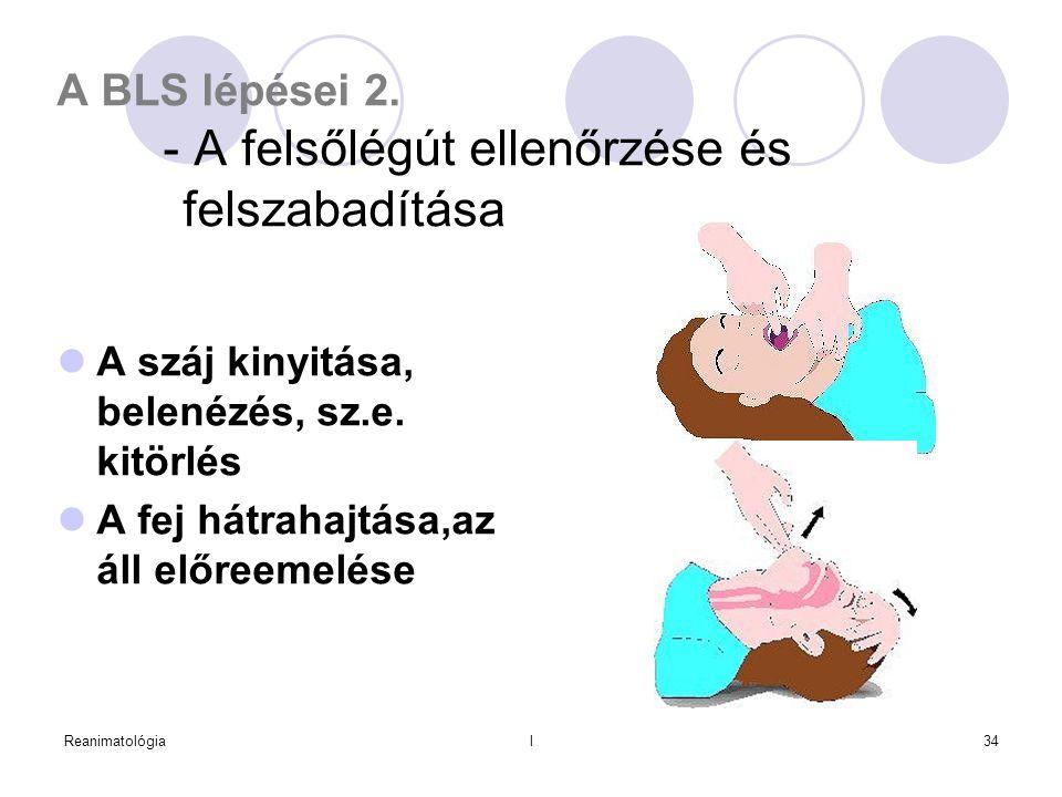 A BLS lépései 2. - A felsőlégút ellenőrzése és felszabadítása