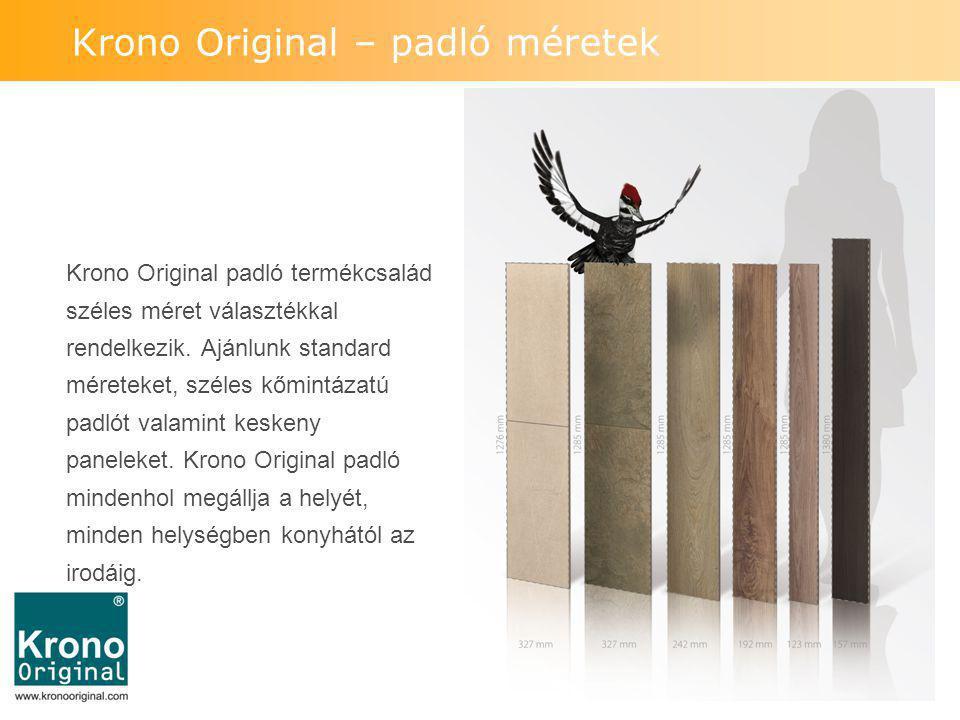 Krono Original – padló méretek