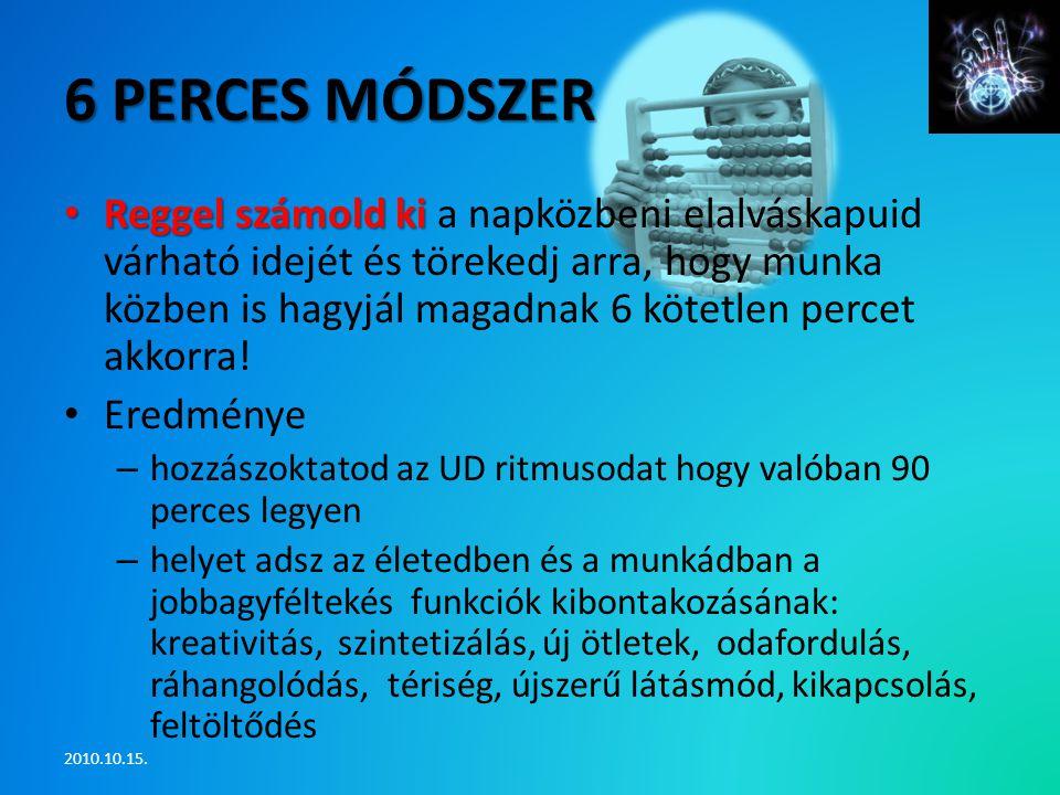 6 perces módszer