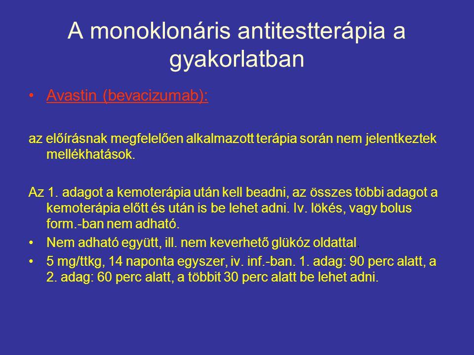 A monoklonáris antitestterápia a gyakorlatban