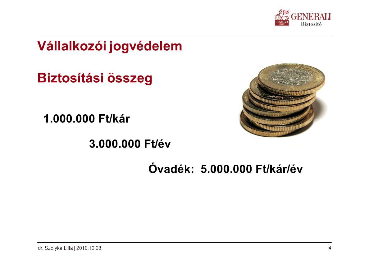 Vállalkozói jogvédelem Biztosítási összeg
