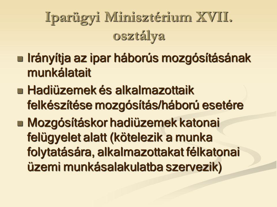 Iparügyi Minisztérium XVII. osztálya