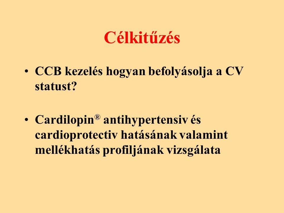 Célkitűzés CCB kezelés hogyan befolyásolja a CV statust