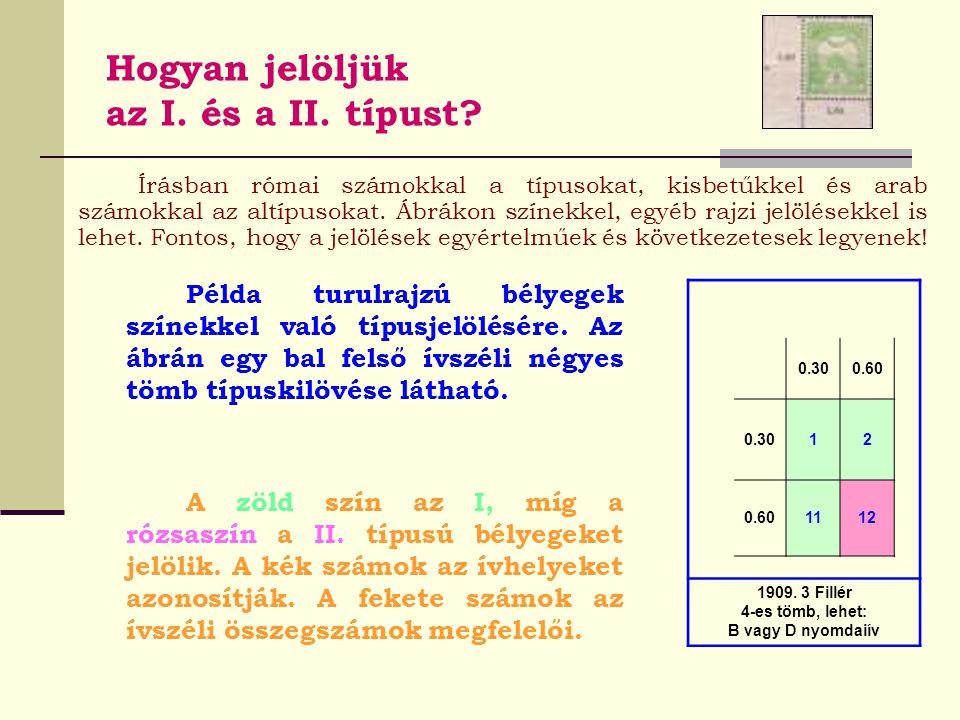 Hogyan jelöljük az I. és a II. típust