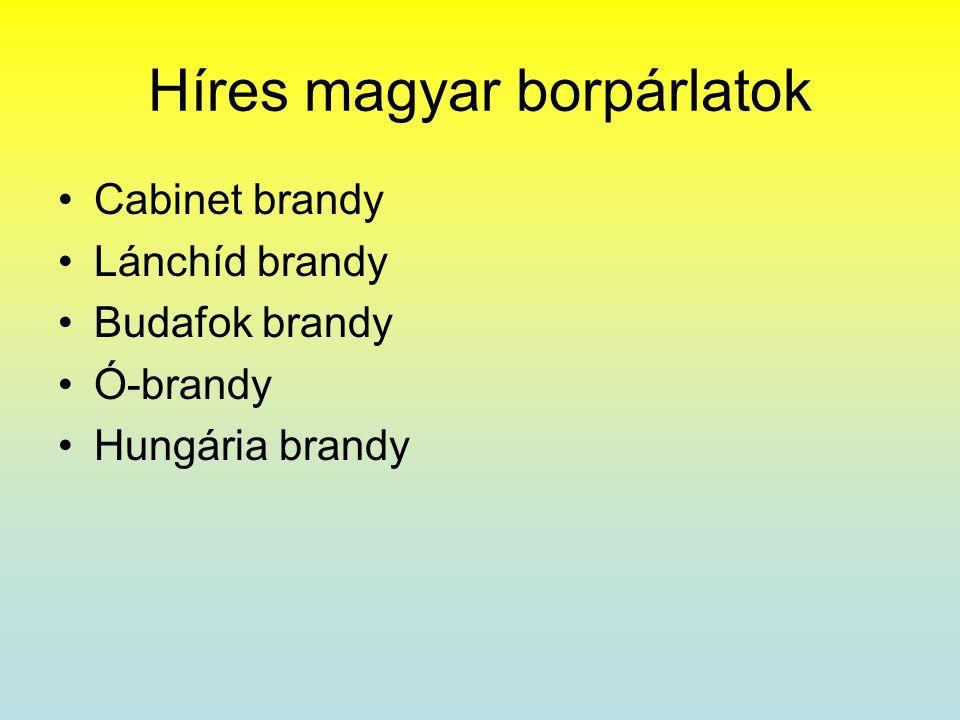 Híres magyar borpárlatok