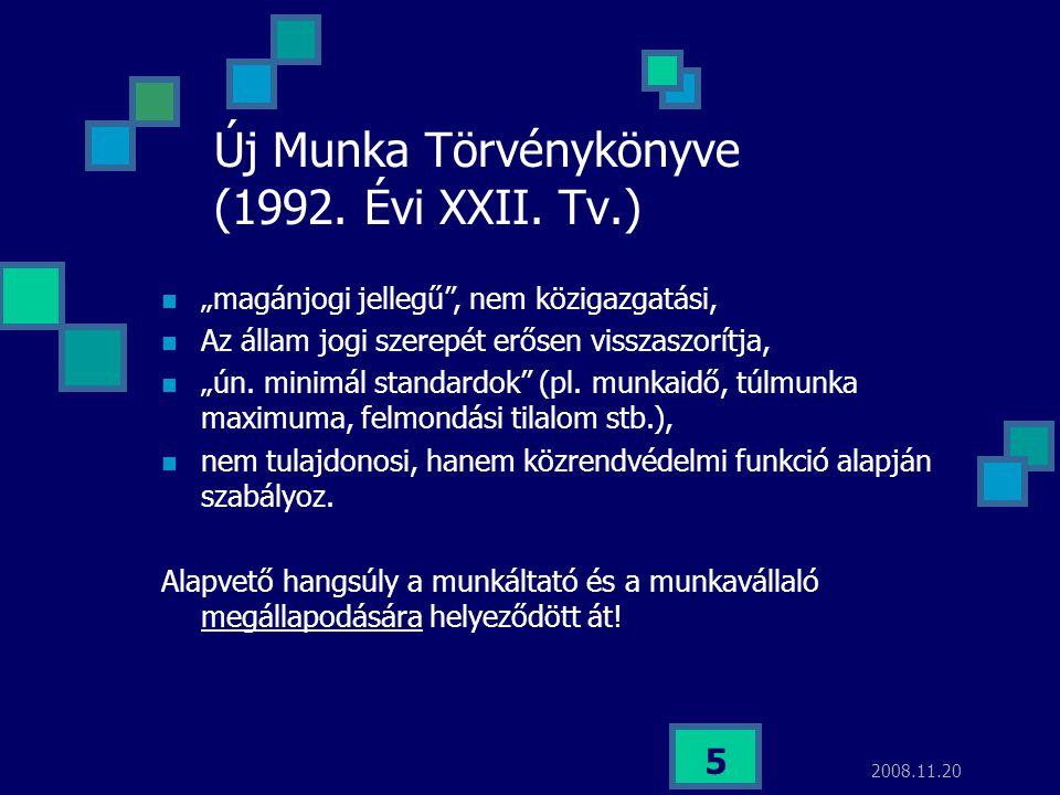 Új Munka Törvénykönyve (1992. Évi XXII. Tv.)