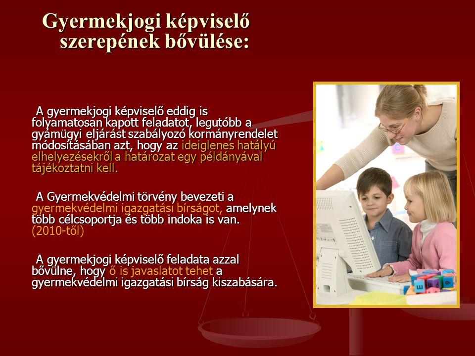 Gyermekjogi képviselő szerepének bővülése: