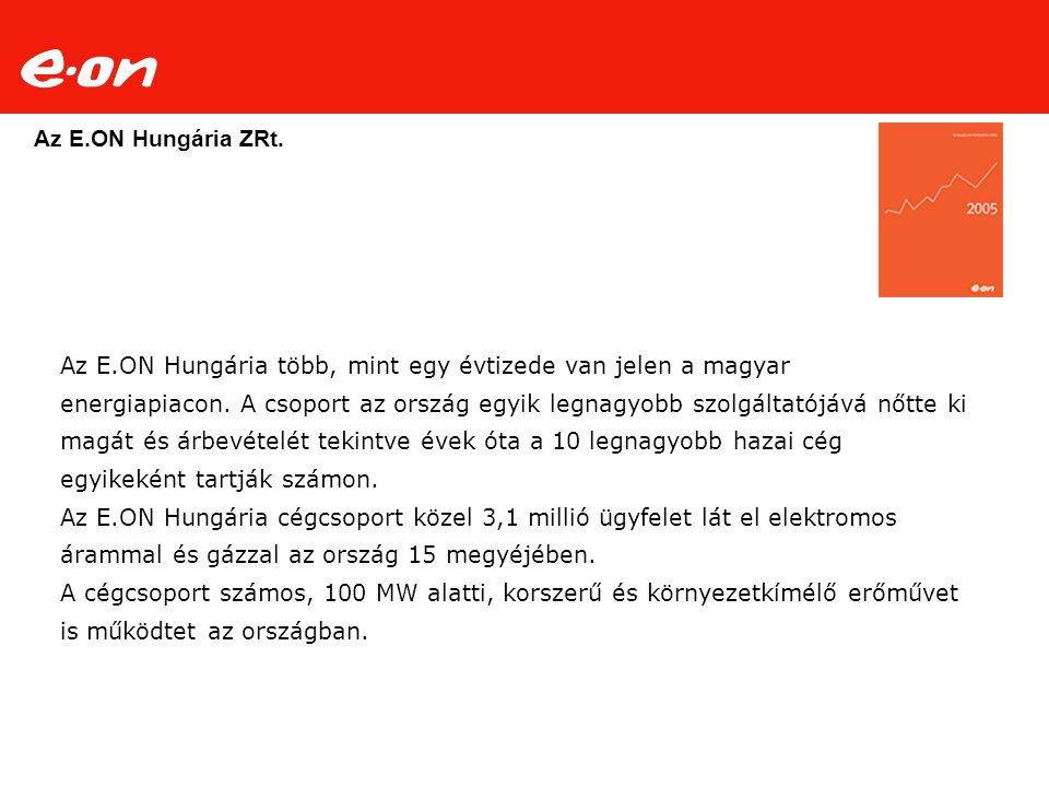 Az E.ON Hungária ZRt.