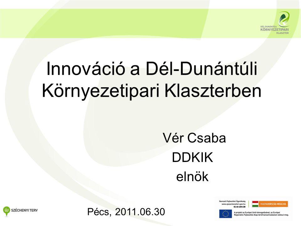 Innováció a Dél-Dunántúli Környezetipari Klaszterben