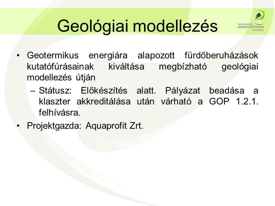Geológiai modellezés Geotermikus energiára alapozott fürdőberuházások kutatófúrásainak kiváltása megbízható geológiai modellezés útján.