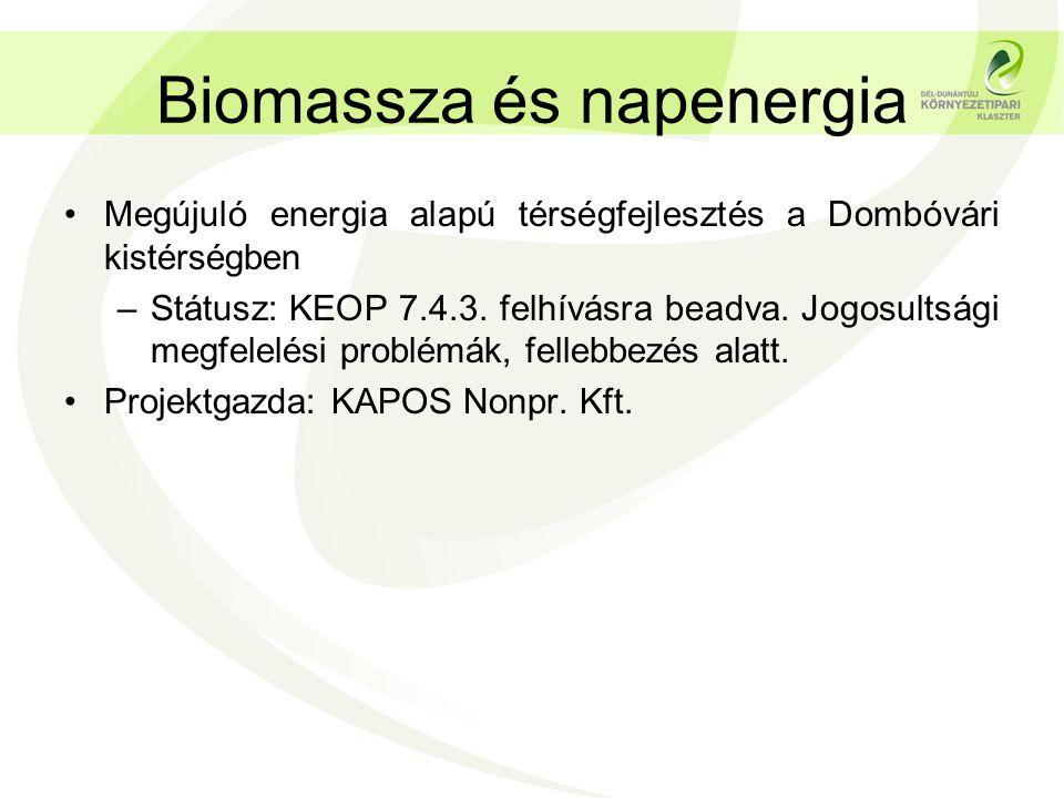 Biomassza és napenergia