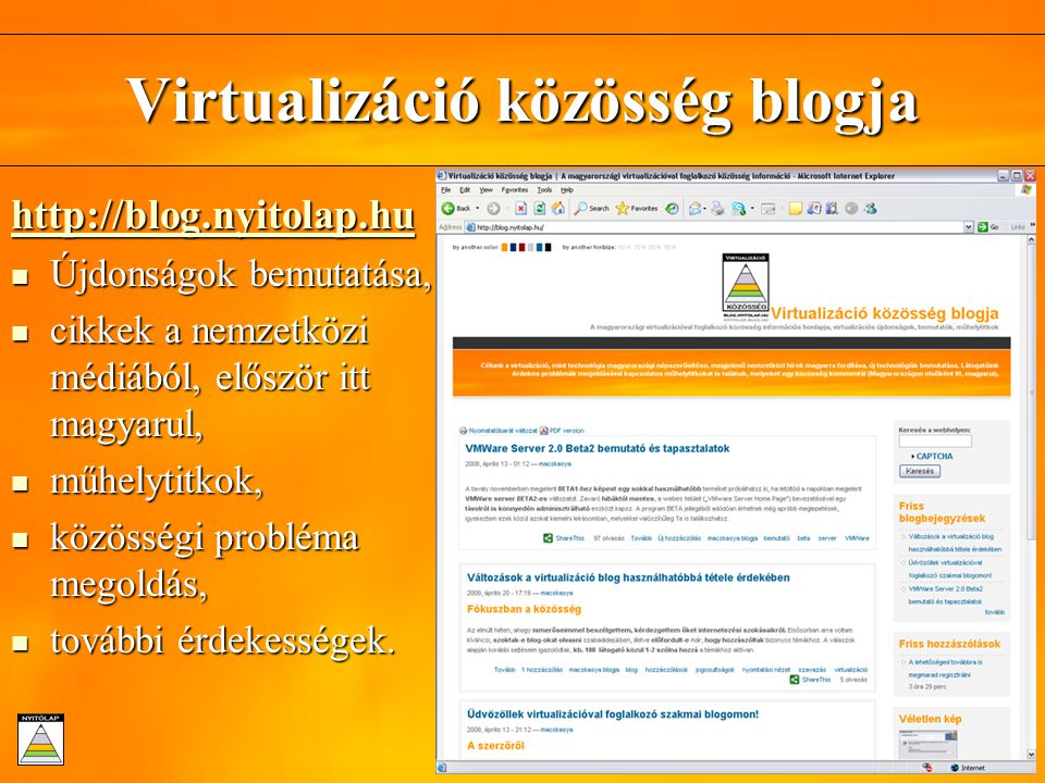 Virtualizáció közösség blogja