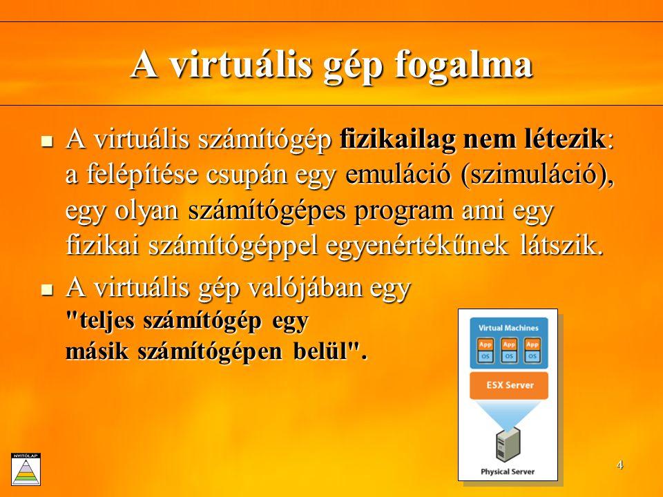 A virtuális gép fogalma