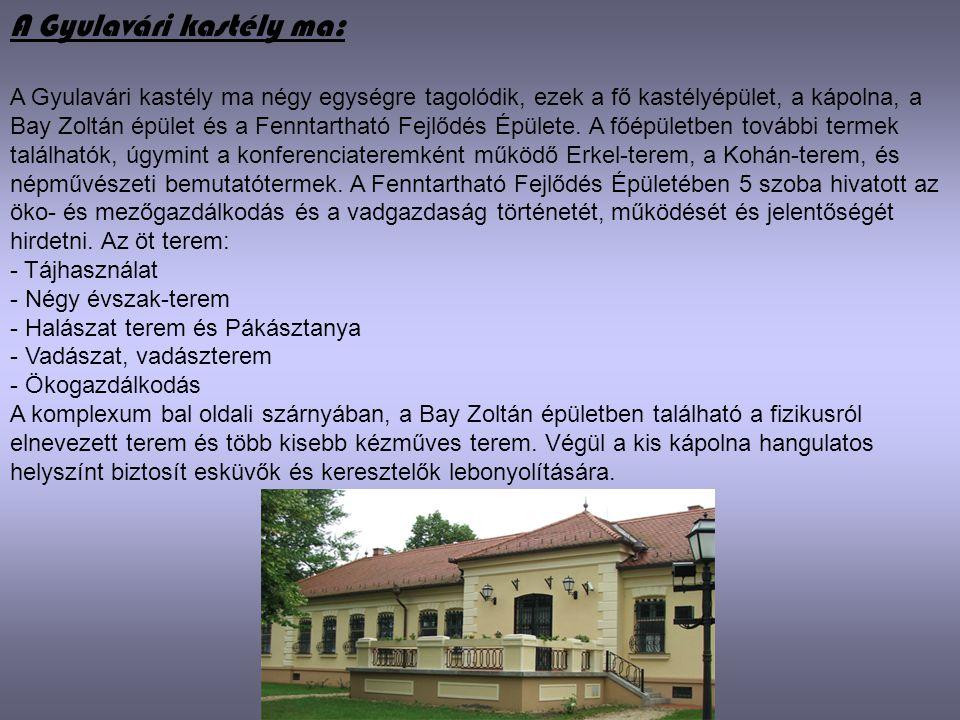 A Gyulavári kastély ma: