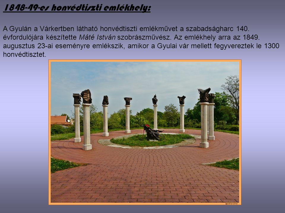 1848-49-es honvédtiszti emlékhely: