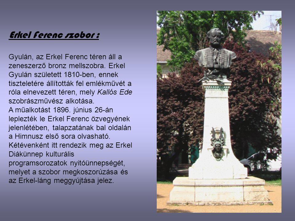 Erkel Ferenc szobor :