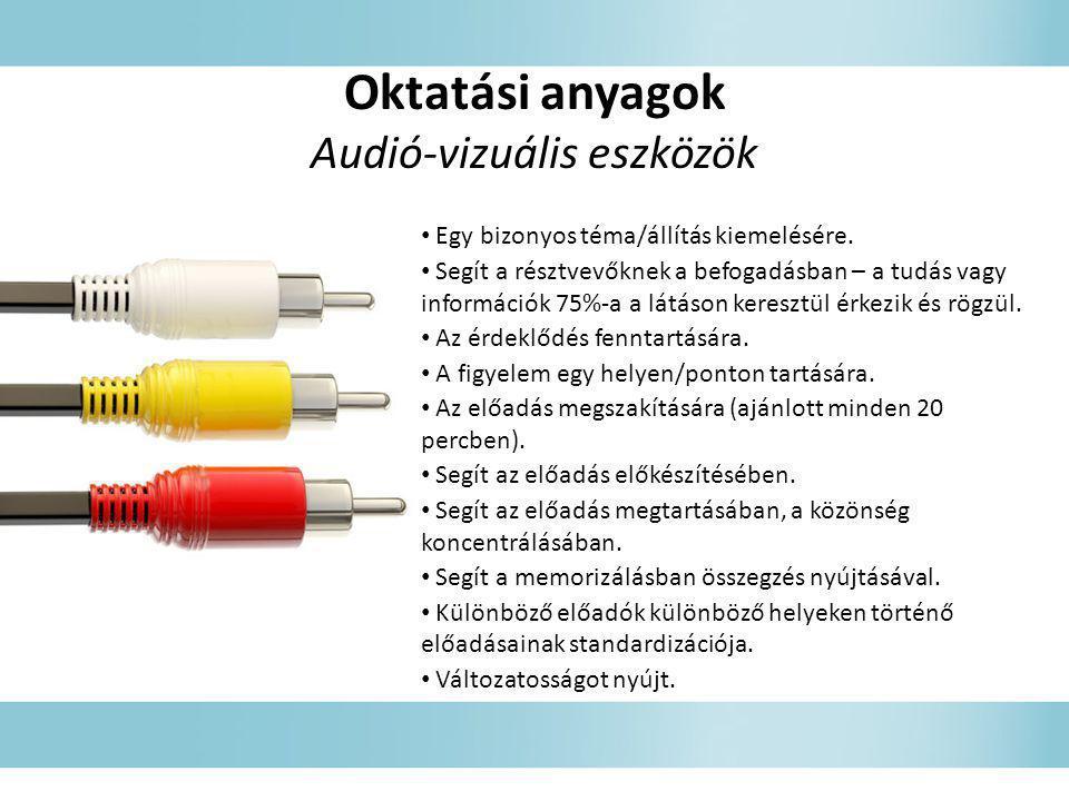 Audió-vizuális eszközök