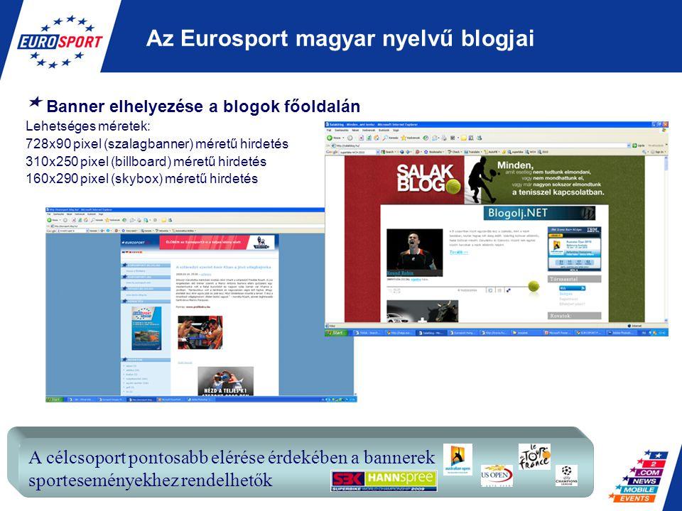 Az Eurosport magyar nyelvű blogjai