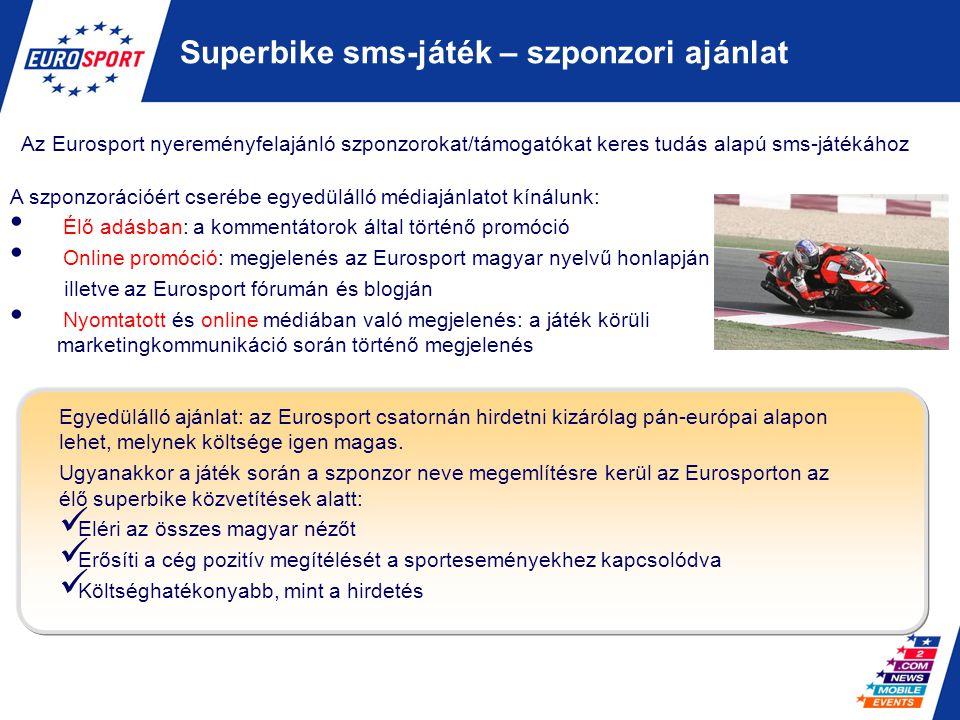 Superbike sms-játék – szponzori ajánlat