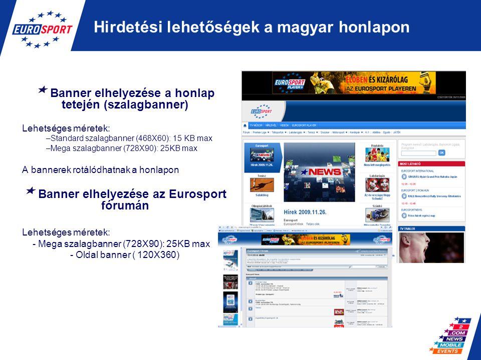 Hirdetési lehetőségek a magyar honlapon