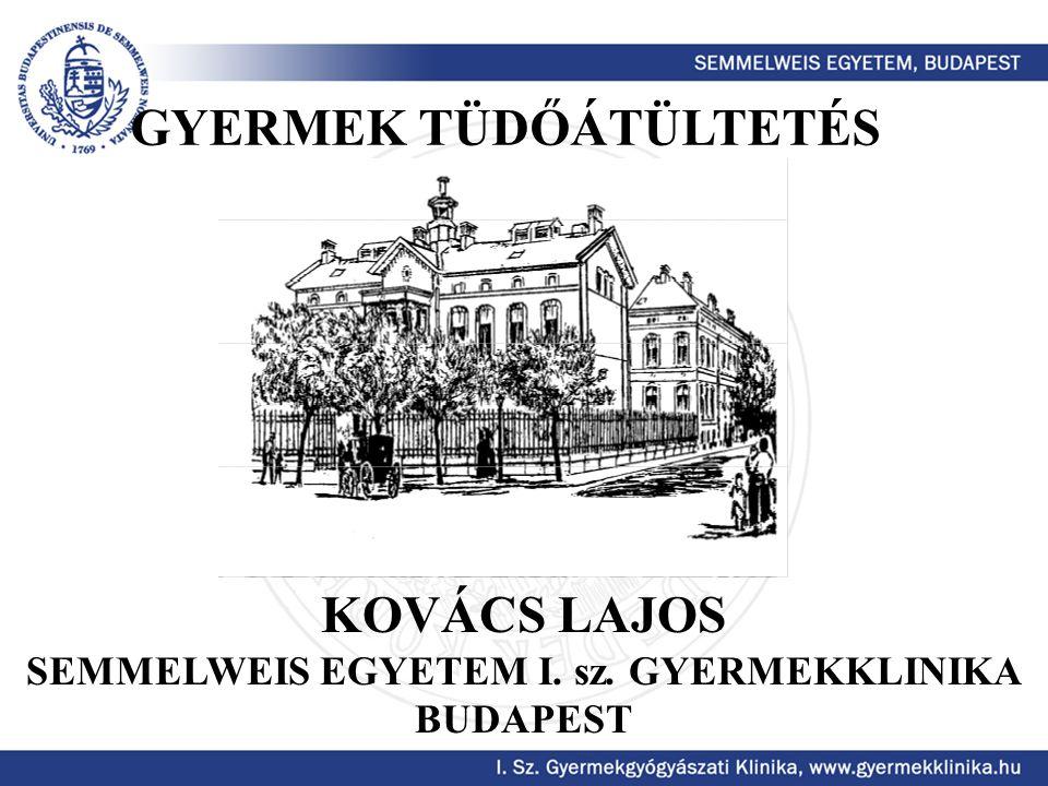 SEMMELWEIS EGYETEM I. sz. GYERMEKKLINIKA