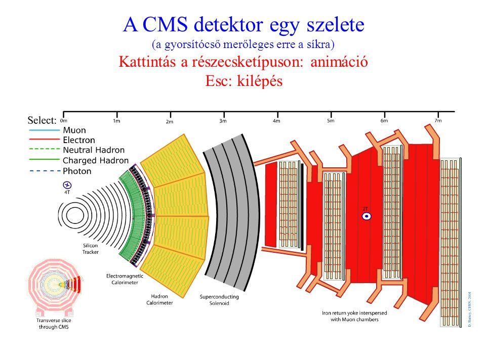 A CMS detektor egy szelete