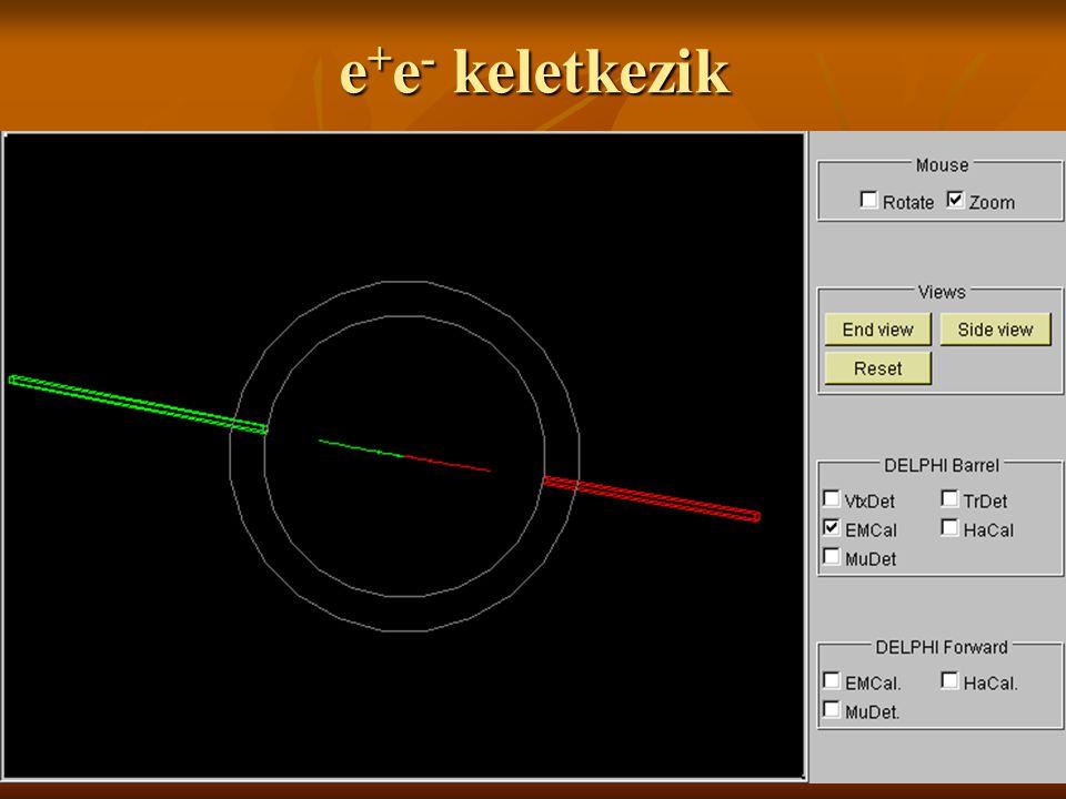 e+e- keletkezik A jobboldali gombokat elemezhetjük.