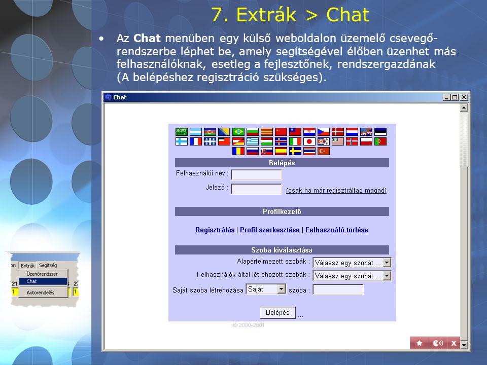 7. Extrák > Chat