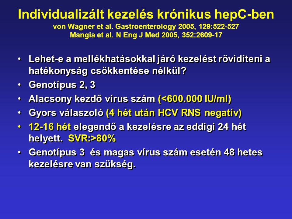 Individualizált kezelés krónikus hepC-ben von Wagner et al