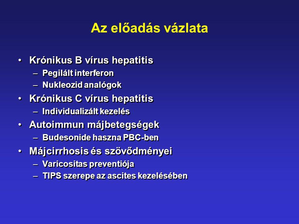 Az előadás vázlata Krónikus B vírus hepatitis