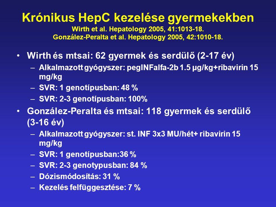 Krónikus HepC kezelése gyermekekben Wirth et al