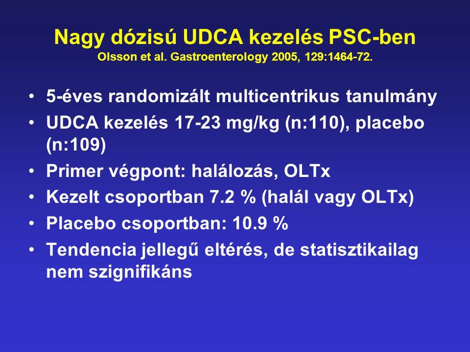 Nagy dózisú UDCA kezelés PSC-ben Olsson et al