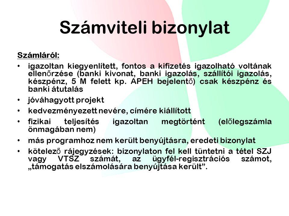 Számviteli bizonylat Számláról: