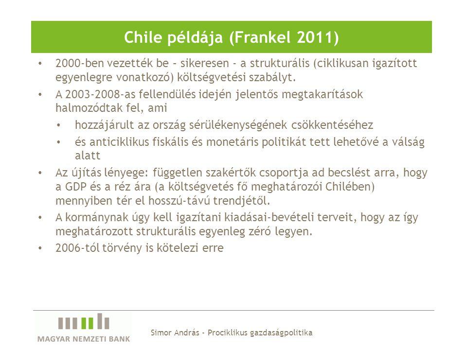 Chile példája (Frankel 2011)