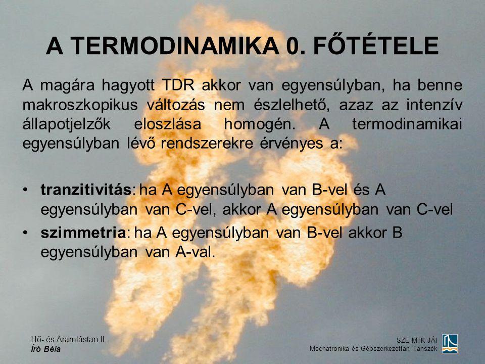 A TERMODINAMIKA 0. FŐTÉTELE