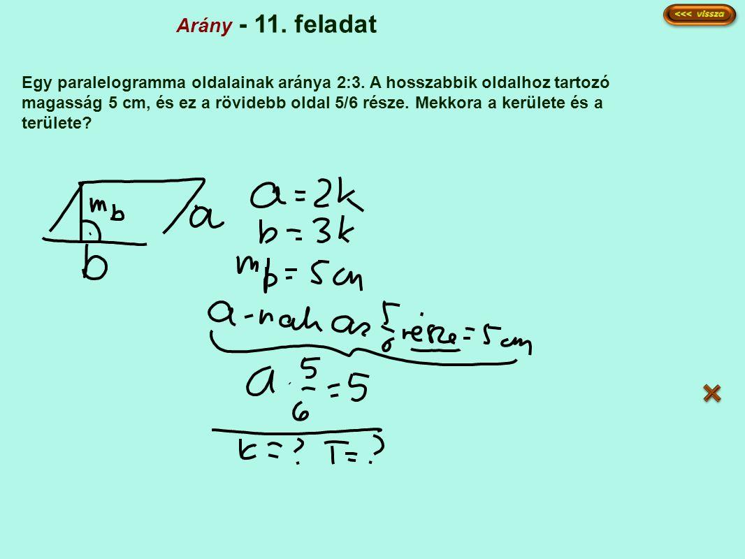 Arány - 11. feladat