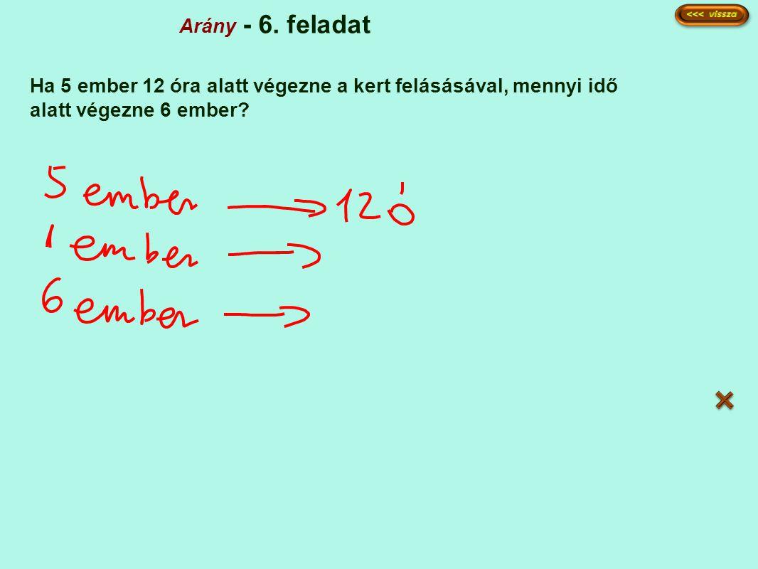 Arány - 6.