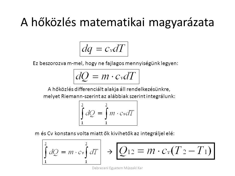 A hőközlés matematikai magyarázata