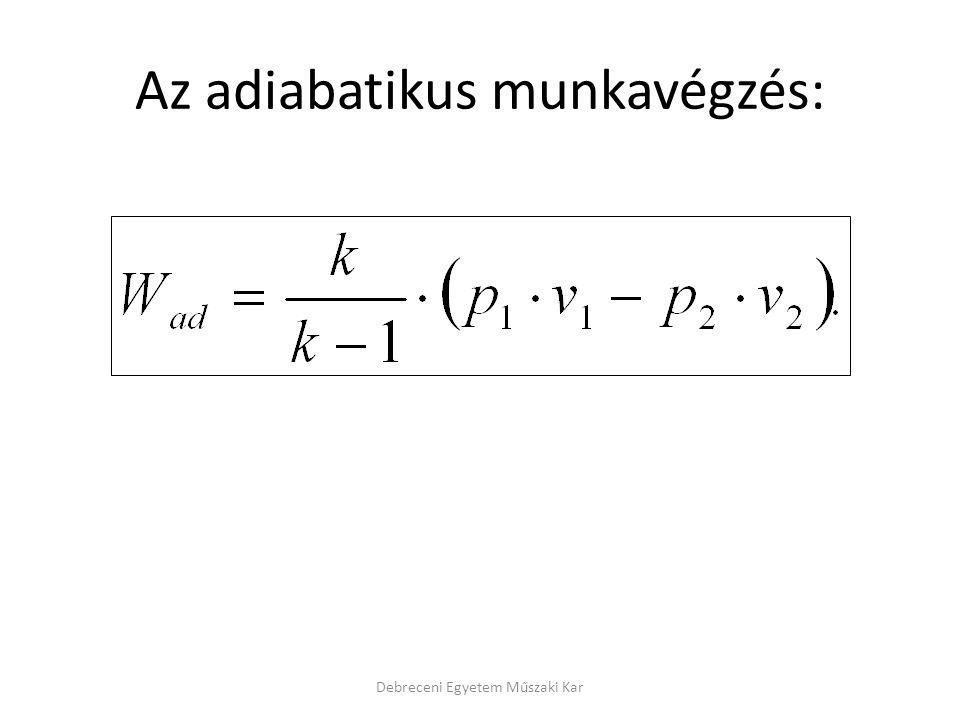 Az adiabatikus munkavégzés: