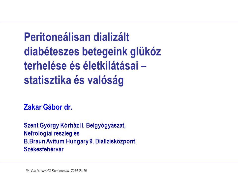 Peritoneálisan dializált diabéteszes betegeink glükóz terhelése és életkilátásai – statisztika és valóság