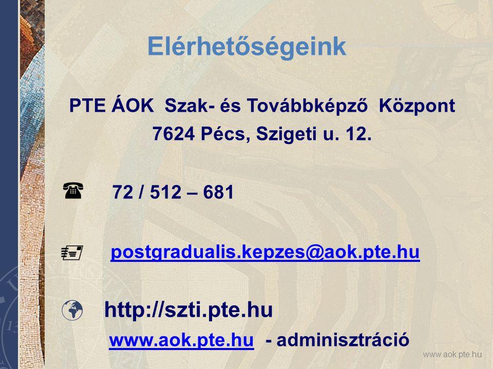 PTE ÁOK Szak- és Továbbképző Központ