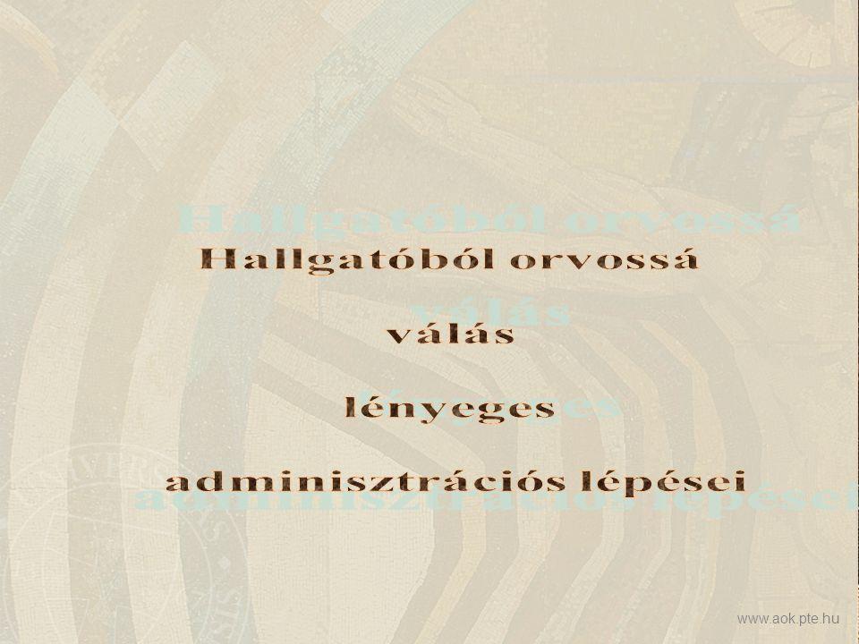 adminisztrációs lépései