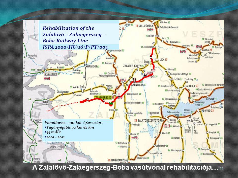 A Zalalövő-Zalaegerszeg-Boba vasútvonal rehabilitációja…