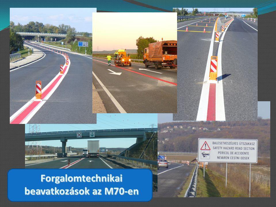 Forgalomtechnikai beavatkozások az M70-en